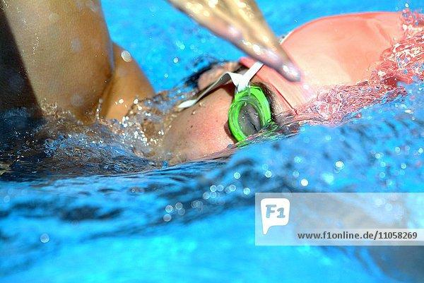 Schwimmer  Kraulstil