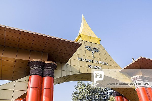Eingangstor des Tribhuvan International Airport  Kathmandu  Nepal  Asien