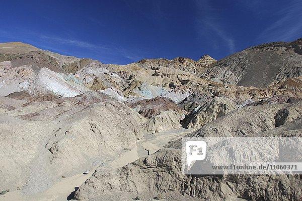Farbige Felsen  Artist's Palette am Artists Drive  Death Valley  USA  Nordamerika