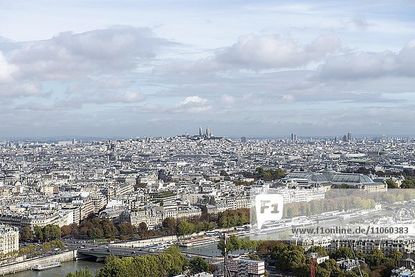 Ausblick über Paris  Paris  Frankreich  Europa