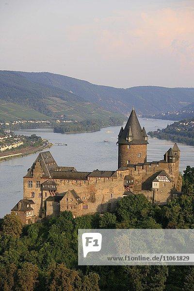 Burg Stahleck  Bacharach  Oberes Mittelrheintal  Rheinland-Pfalz  Deutschland  Europa