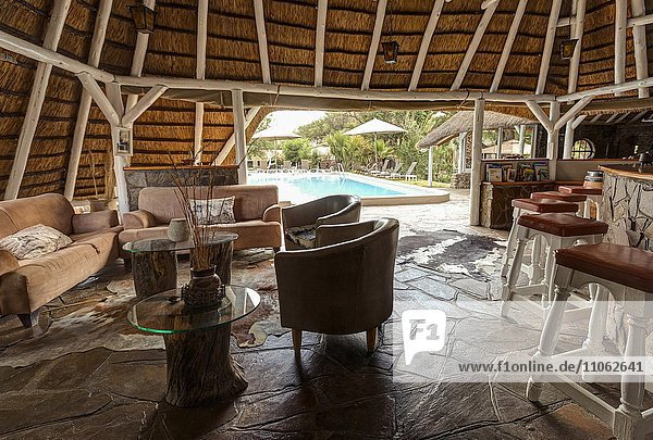 Bar im Hotel Elegant Farmstead  bei Okahandja  Namibia  Afrika