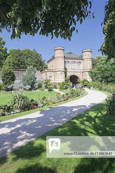 Eingang zum Botanischen Garten  Schlossgarten  Karlsruhe  Baden-Württemberg  Deutschland  Europa