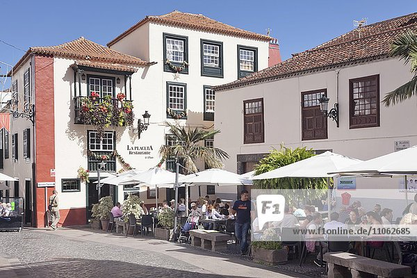 Restaurant an der Placeta de Borrero  Santa Cruz de la Palma  La Palma  Kanarische Inseln  Spanien  Europa