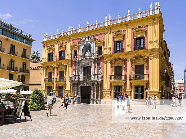 Palast Palace Episcopal  Plaza del Obispo  Málaga  Costa del Sol  Andalusien  Spanien  Europa