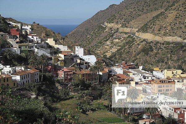 Vallehermoso  La Gomera  Kanarische Inseln  Spanien  Europa