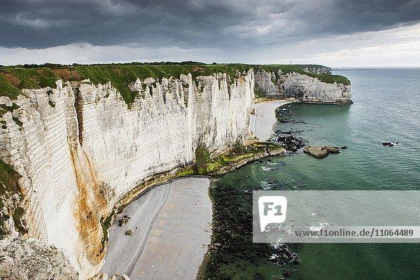 Les Falaises d´Étretat  Étretat  Département Seine-Maritime  Normandie  Frankreich  Europa