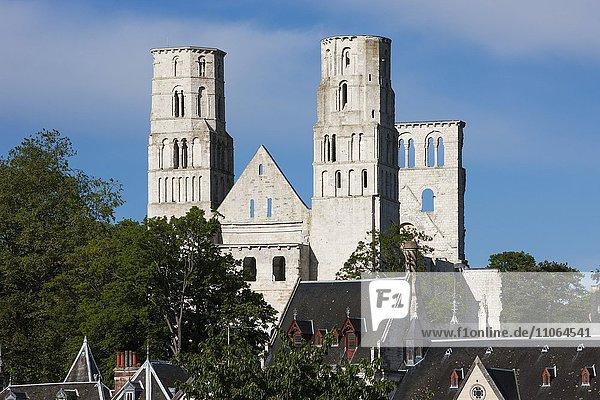Ruine der Abtei Jumièges  Département Seine-Maritime  Normandie  Frankreich  Europa
