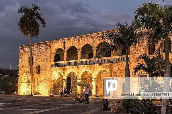 Alcázar de Colón at night  Santo Domingo  Dominican Republic  North America
