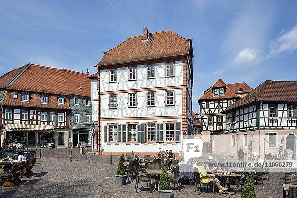 Altes Schulhaus von 1703  Altstadt  Seligenstadt  Hessen  Deutschland  Europa