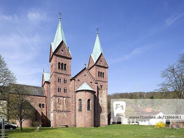 Ehemalige Benediktinerabtei  Pfarrkirche St. Michael und St. Gertrudis  Neustadt am Main  Unterfranken  Bayern  Deutschland  Europa