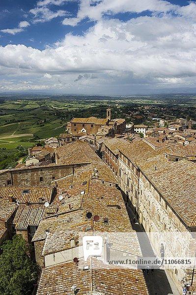 Dächer von Montepulciano  Provinz Siena  Toskana  Italien  Europa