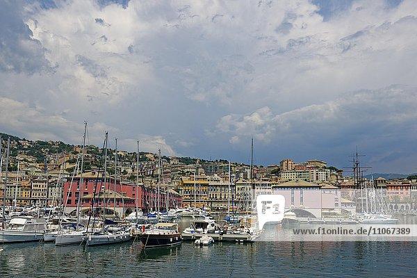 Hafen Marina di Porto Antico,  Genua,  Ligurien,  Italien,  Europa