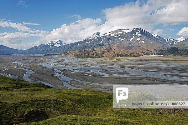 Jökulsá í Lóni river  Kollumulavegur  Southern Region  Iceland  Europe