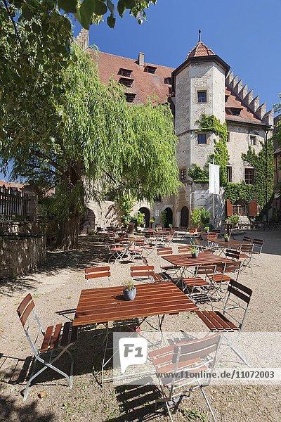 Schloss Sommerhausen  Unterfranken  Franken  Bayern  Deutschland  Europa
