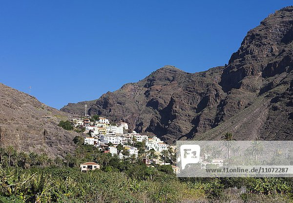 La Calera  Valle Gran Rey  La Gomera  Kanarische Inseln  Kanaren  Spanien  Europa