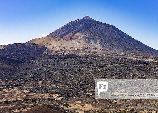 Vulkan Pico del Teide  Teide-Nationalpark  Parque Nacional de las Cañadas del Teide  Teneriffa  Kanarische Inseln  Spanien  Europa