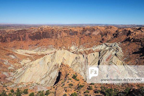 Sandsteinkrater  Upheaval Dome  Hebungskuppe  Krater  Island in the Sky  Canyonlands Nationalpark  Utah  USA  Nordamerika