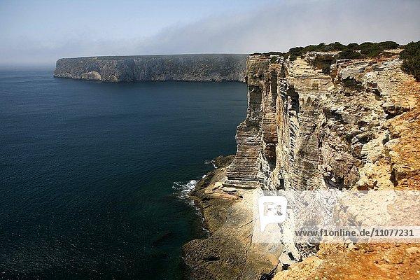 Steilküste  Felsküste  bei Sagres  Algarve  Portugal  Europa