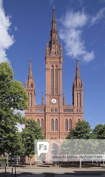 Market Church  Marktkirche at Schlossplatz  Wiesbaden  Hesse  Germany  Europe