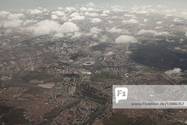 Luftaufnahme von Lissabon  Portugal