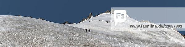 Frankreich  Chamonix  Bergsteiger bei der Aiguille du Tour