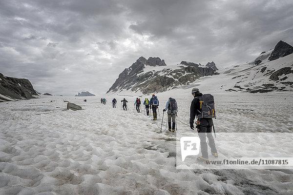 Schweiz  Penninische Alpen  Otemmagletscher