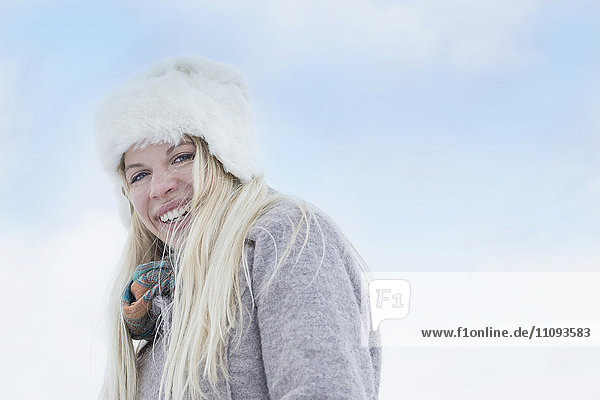Portrait of a teenage girl smiling  Bavaria  Germany