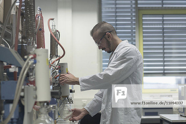 Scientist working in a pharmacy lab