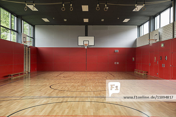 Interiors of a sports hall  Munich  Bavaria  Germany