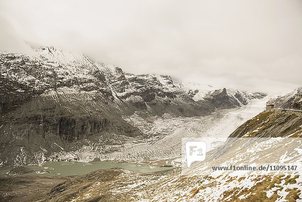 Grossglockner mountain with Glacier Pasterze  Hohe Tauern National Park  Carinthia  Austria