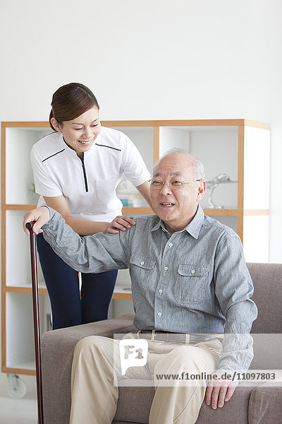 Senior Male Patient and Nurse