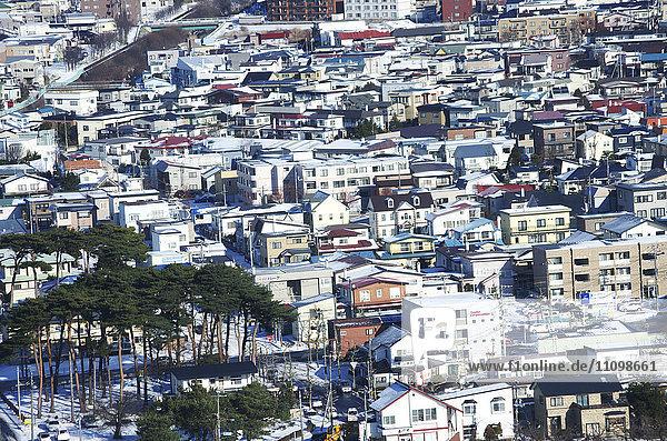 Cityscape of hakodate city  Hokkaido Prefecture  Japan