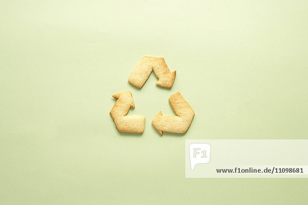 Cookie of recycling symbol