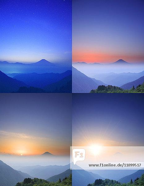 Four Images of Mt Fuji