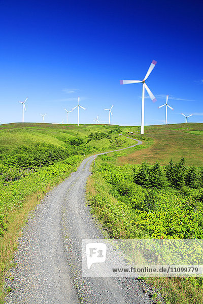 Wind Farm and Rural Road
