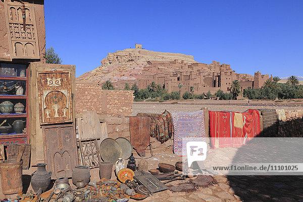 Souvenir Shop  at Ait Benhaddou  Ouarzazate  Morocco