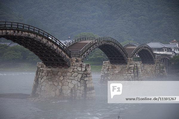 Kintai bridge  Iwakuni City  Yamaguchi Prefecture  Honshu  Japan