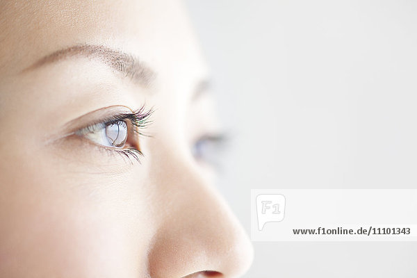 Close-up of young woman's eyes