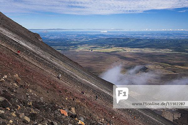 Mount Ngauruhoe Volcano summit climb  an extra on the Tongariro Alpine Crossing  Tongariro National Park  UNESCO World Heritage Site  North Island  New Zealand  Pacific