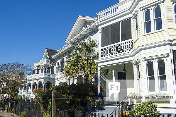 Colonial houses in Charleston  South Carolina  United States of America  North America