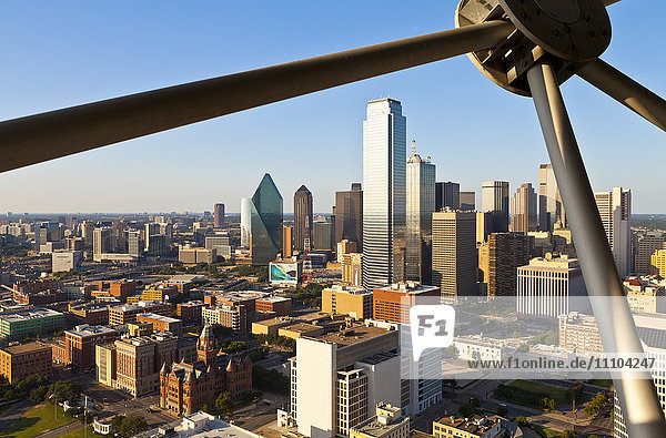 Skyline from Reunion Tower  Dallas  Texas  United States of America  North America