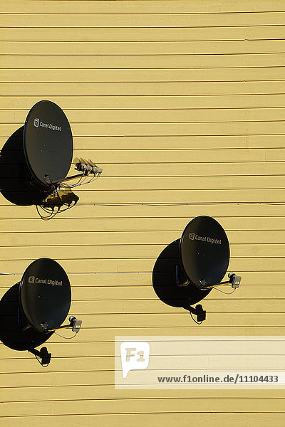 Satellite dishes  Norway  Europe