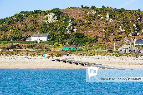 The Bar Quay on Bryher  Isles of Scilly  England  United Kingdom  Europe