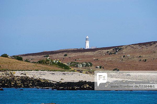Lighthouse  Isles of Scilly  England  United Kingdom  Europe