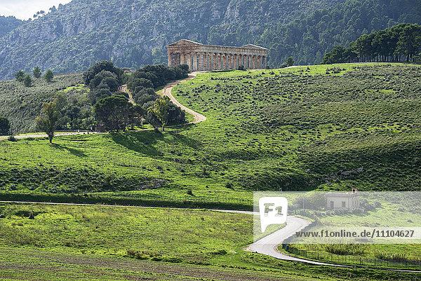 Segesta Temple  Segesta  Sicily  Italy  Europe