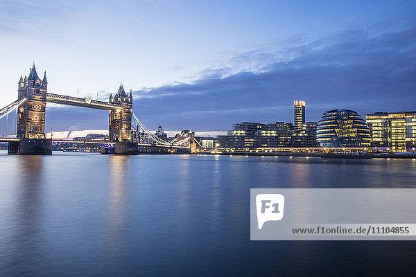 Tower Bridge and River Thames  London  England  United Kingdom  Europe