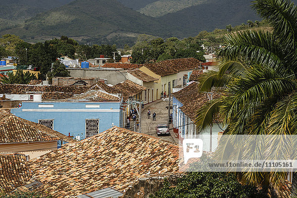 Elevated view over the colonial city of Trinidad  UNESCO World Heritage Site  Sancti Spiritus Province  Cuba  West Indies  Caribbean  Central America