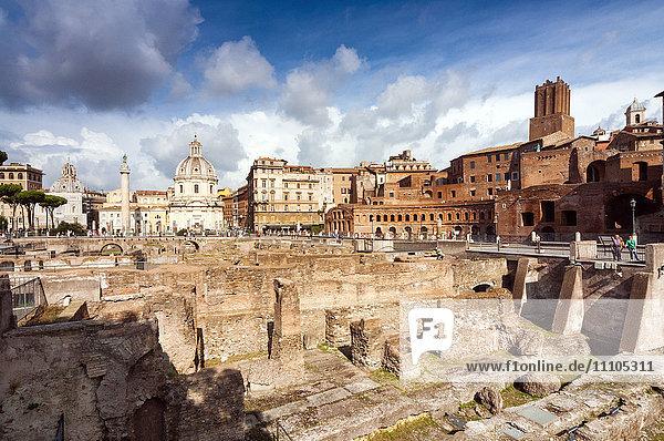 Trajan's Forum  Rome  Unesco World Heritage Site  Latium  Italy  Europe