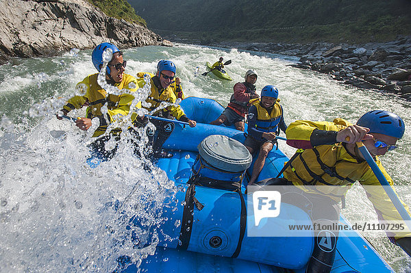 Rafting trip on the Trisuli River in Nepal  Asia